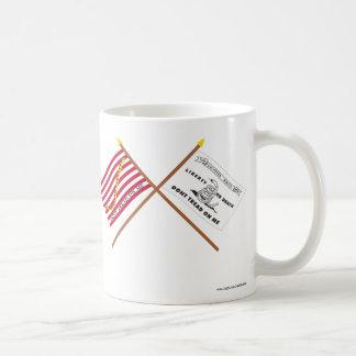 Crossed Navy Jack and Culpeper Flag Coffee Mug