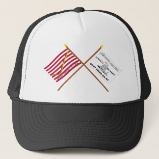 Crossed Navy Jack and Culpeper Flag Trucker Hat