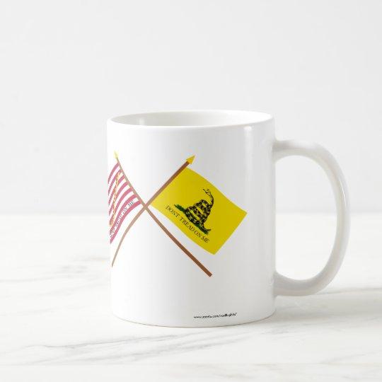 Crossed Navy Jack and Gadsden Flag Coffee Mug