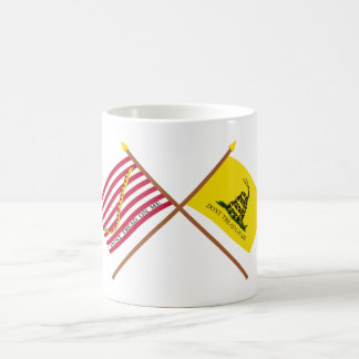 Crossed Navy Jack and Gadsden Flag Coffee Mugs