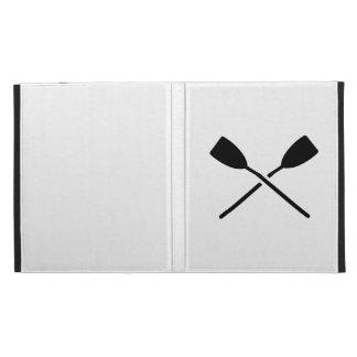 Crossed oars iPad cases