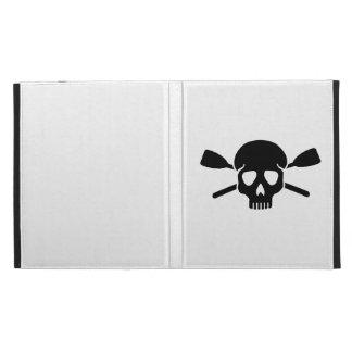 Crossed oars paddles skull iPad folio covers