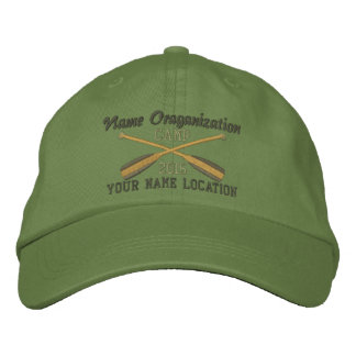 Crossed Paddles Embroidery for Club Camp Team Lake Embroidered Baseball Cap