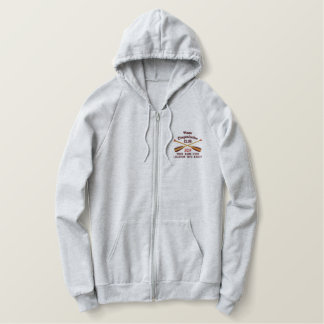 Crossed Paddles Embroidery for Club Camp Team Lake Embroidered Hoodie