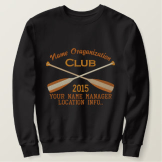 Crossed Paddles Embroidery for Club Camp Team Lake Embroidered Sweatshirt