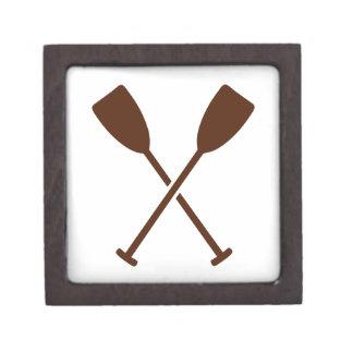 Crossed paddles oars premium jewelry box