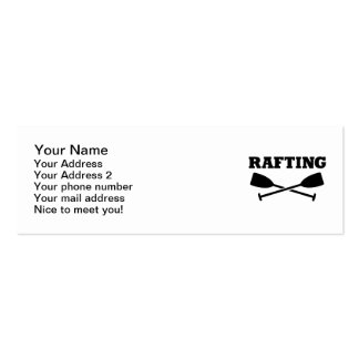 Crossed Paddles Rafting Double-Sided Mini Business Cards (Pack Of 20)