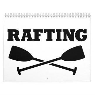 Crossed Paddles Rafting Calendar