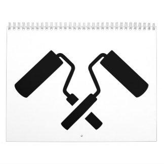 Crossed painter rolls calendar