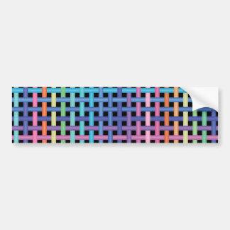 crossed pattern car bumper sticker