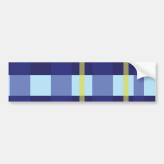 Crossed Pattern Bumper Sticker
