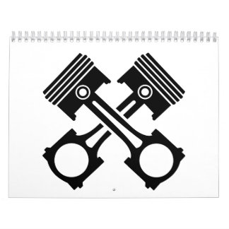 Crossed piston calendar