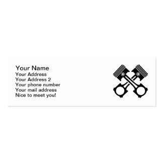 Crossed piston mini business card