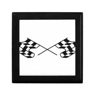 Crossed Racing Flags Jewelry Box