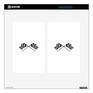 Crossed Racing Flags Skins For Kindle Fire