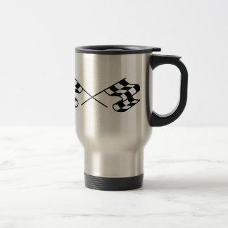 Crossed Racing Flags Travel Mug