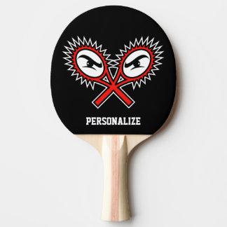 Crossed racket logo table tennis ping pong paddle