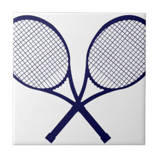 Crossed Rackets Silhouette Tile