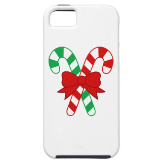 Crossed Red and Green Candy Canes Tied with Bow iPhone SE/5/5s Case