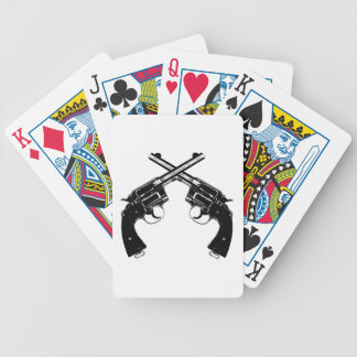 Crossed Revolvers Bicycle Playing Cards