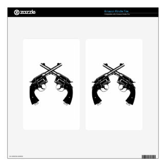 Crossed Revolvers Kindle Fire Skin