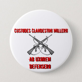 Crossed rifles, Custodes Clandestini Millerii, ... Button