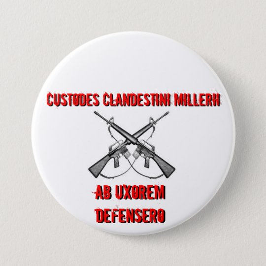 Crossed rifles, Custodes Clandestini Millerii, ... Button