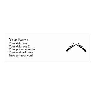 Crossed rifles mini business card