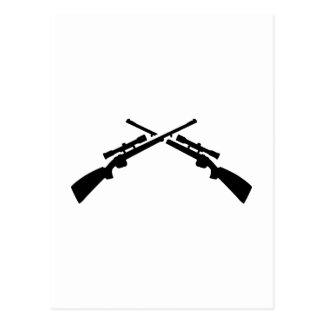 Crossed rifles postcard
