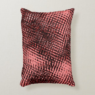 Crossed risks and blots in the color peach or accent pillow