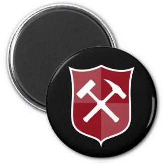 Crossed Rock Hammer Shield Magnet