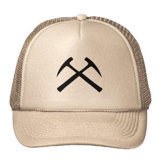 Crossed Rock Hammers Cap Trucker Hat