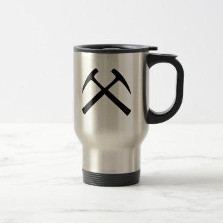 Crossed Rock Hammers 15 Oz Stainless Steel Travel Mug