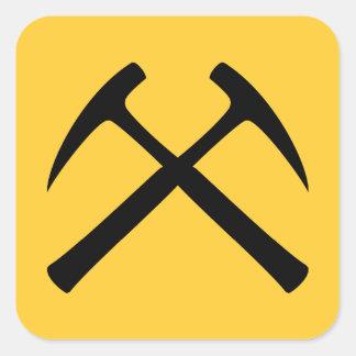 Crossed Rock Hammers Sticker