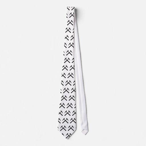 Crossed Rock Hammers Tie