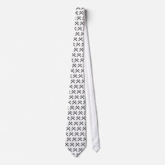 Crossed Rock Hammers Tie