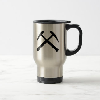 Crossed Rock Hammers Travel Mug