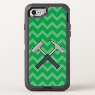 Crossed Rock Hammers with Chevron Pattern OtterBox Defender iPhone 7 Case