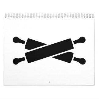 Crossed rolling pins calendar