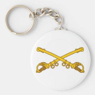Crossed sabers key chain