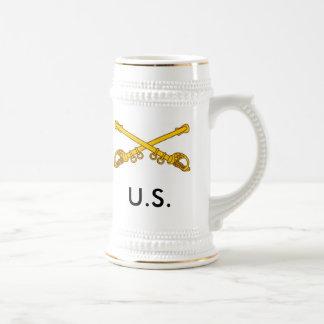 crossed sabers, U.S. 18 Oz Beer Stein
