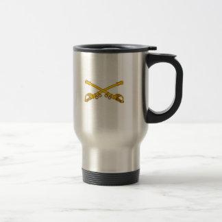crossed sabers, U.S. 15 Oz Stainless Steel Travel Mug