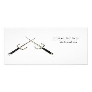 Crossed Sai Weapons Rack Card