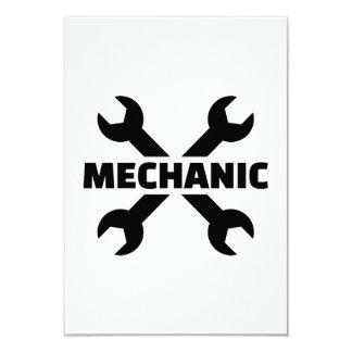 Crossed screw wrench mechanic custom invite
