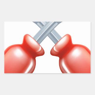 Crossed screwdrivers icon rectangle sticker