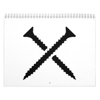 Crossed screws calendar