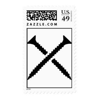 Crossed screws postage