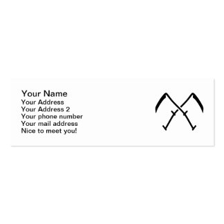 Crossed scythe Double-Sided mini business cards (Pack of 20)