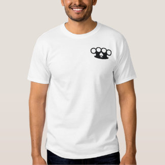 Crossed Six Shooter Gun and Brass Knuckles Tshirt