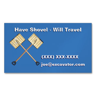 Crossed Snow Shovels Magnetic Business Cards (Pack Of 25)